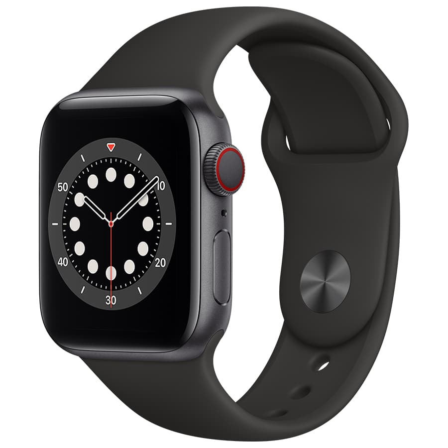 Du Shop Personal Apple Watch Series 6 Gps 44mm Space Gray Aluminium Case With Black Sport Band